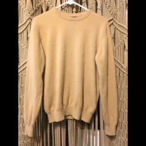 Lands End 100% Cashmere Oversized Tan sweater S